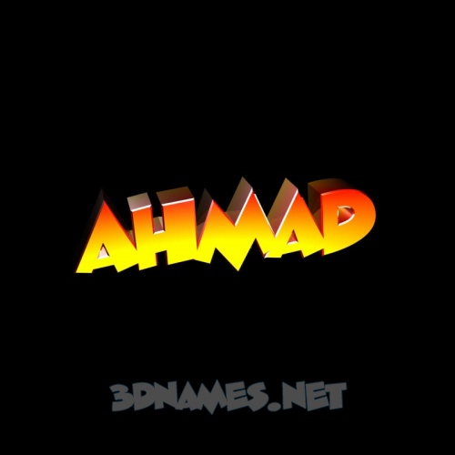 Preview of Black Background for name Ahmad 500x500