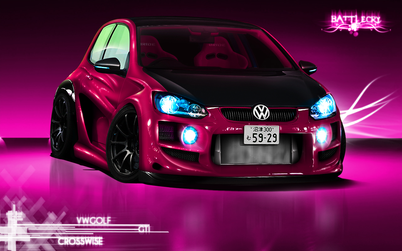 VW Golf Gti Studio Wallpaper by Battle Cry TR 1280x800