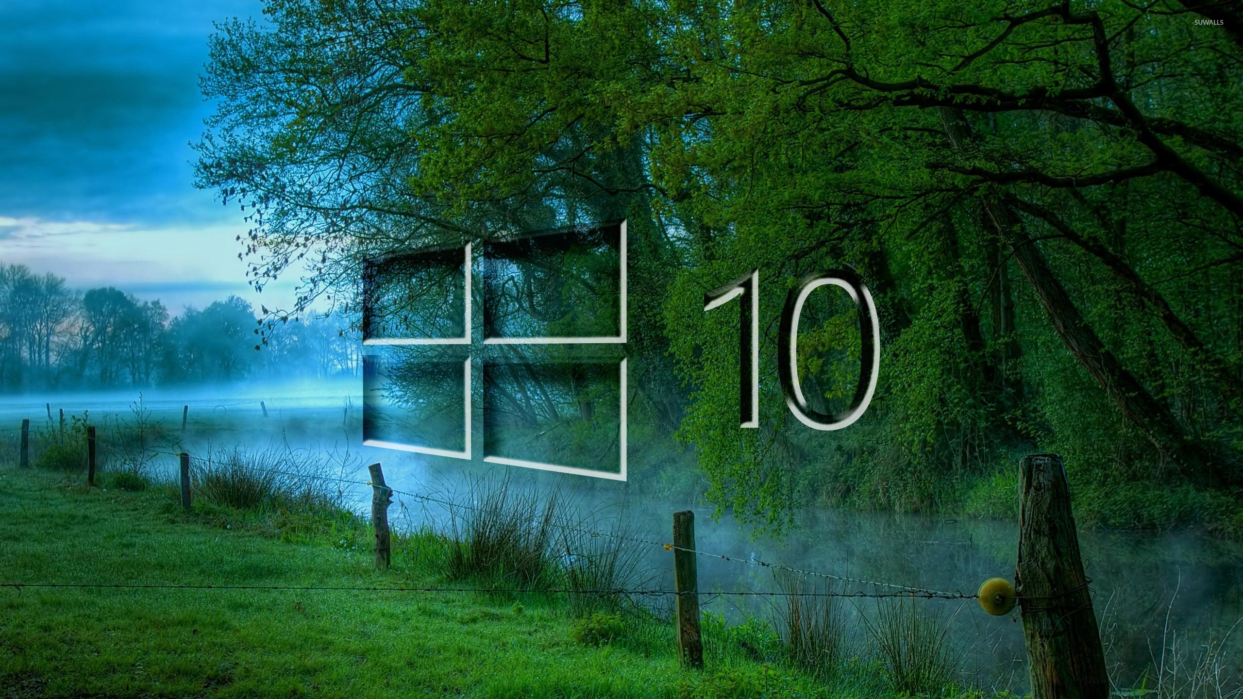 Wallpaper download for windows 10 - Windows 10 In The Misty Morning Glass Logo Wallpaper Computer
