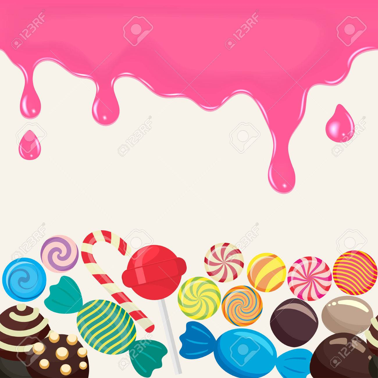 Sweet Candy Endless In The Horizontal Illustration For Menu Design 1300x1300