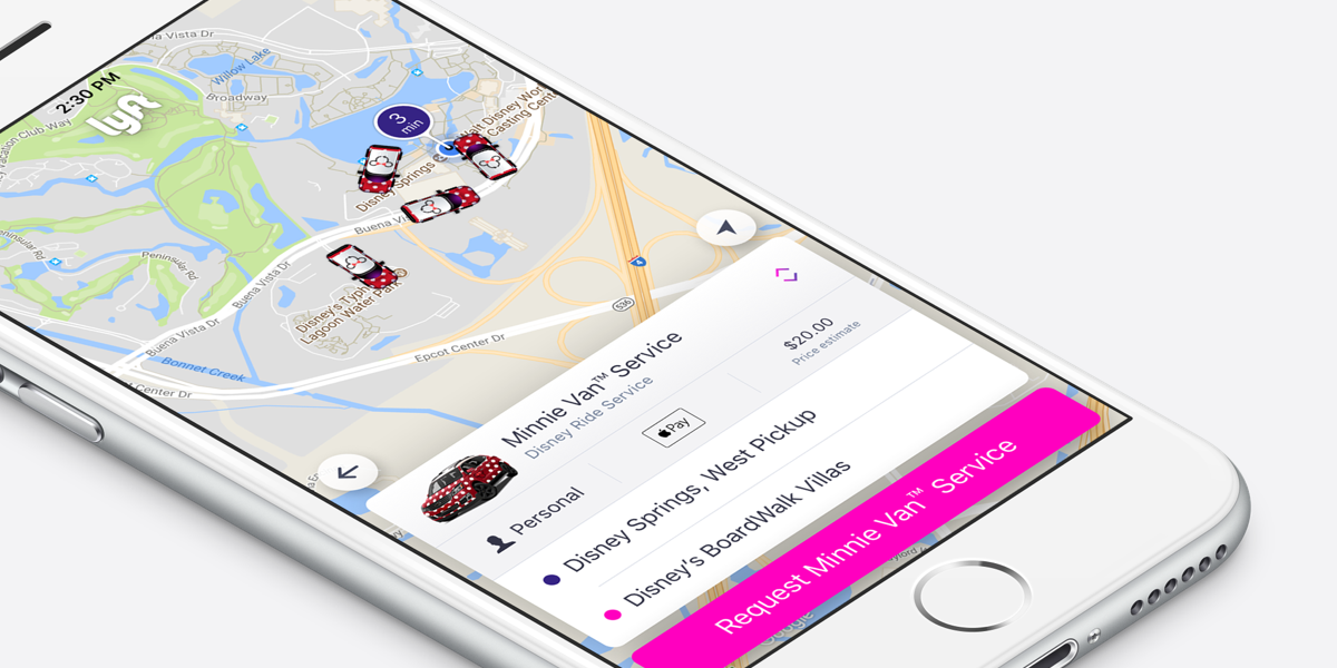 Lyft Powered Minnie Van Service Launches at Walt Disney World 1200x600
