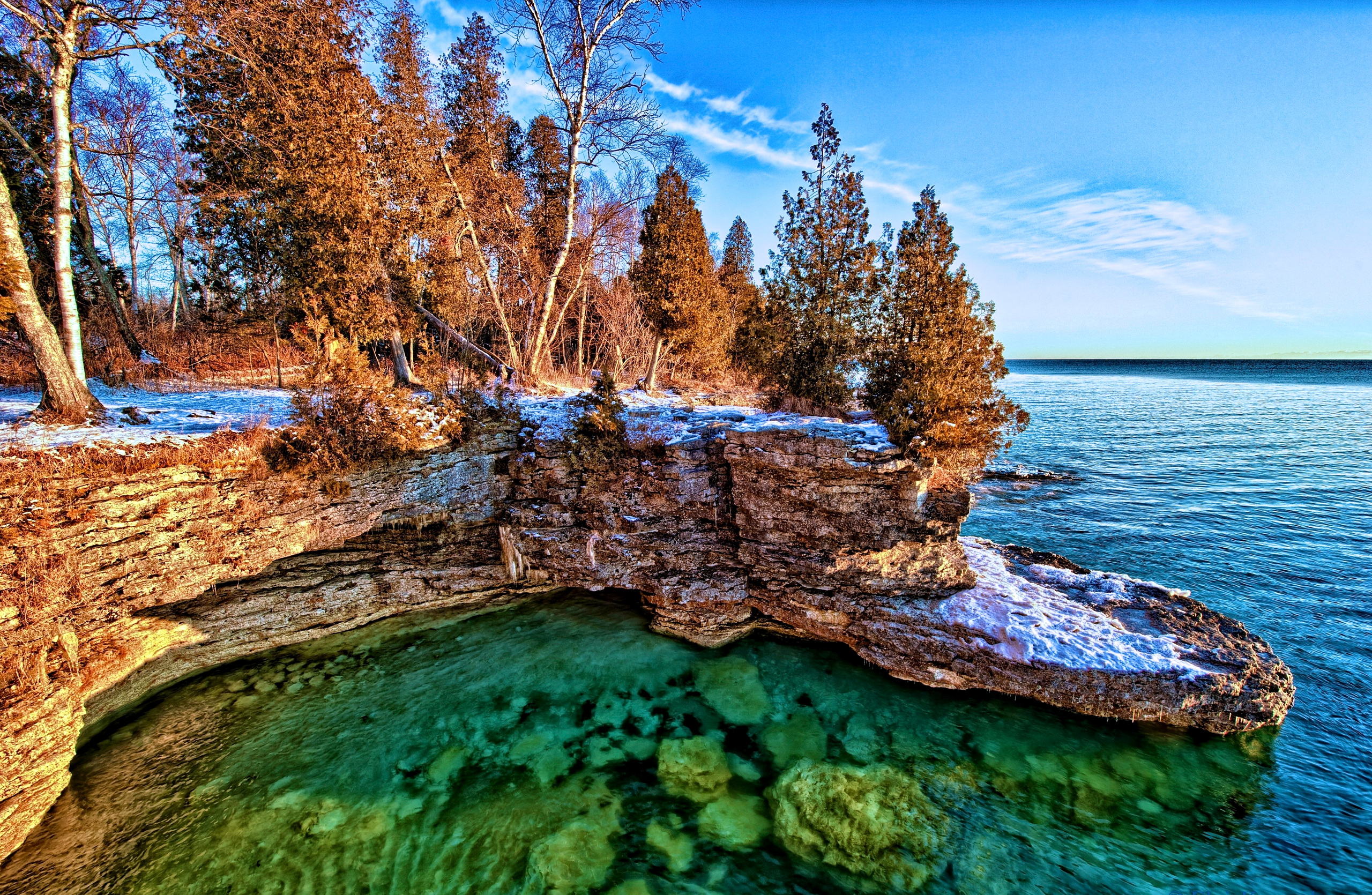 Sunrise Over Lake Michigan 2 by Elvis Kennedy   Desktop Wallpaper 2560x1670