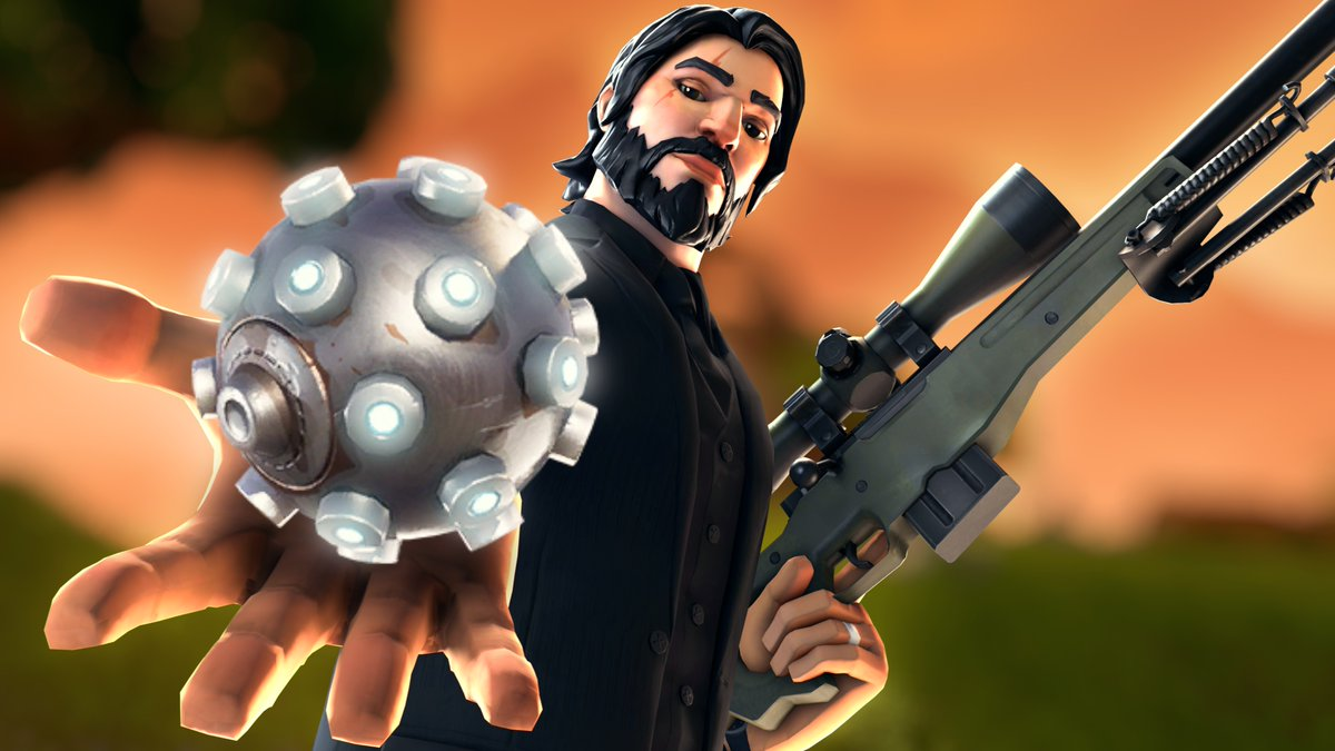 BaileyJIII made this cool wallpaper of John Wick FortNiteBR 1200x675