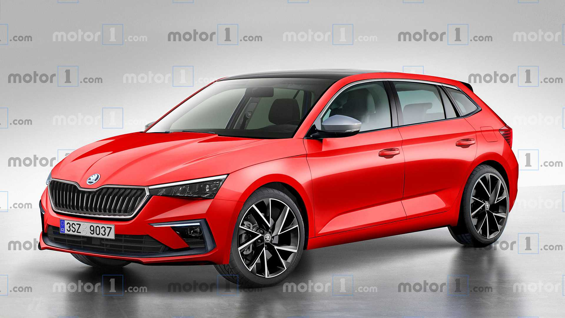 Sibling Rivalry Skoda Scala Rendered To Take On The VW Golf 1920x1080