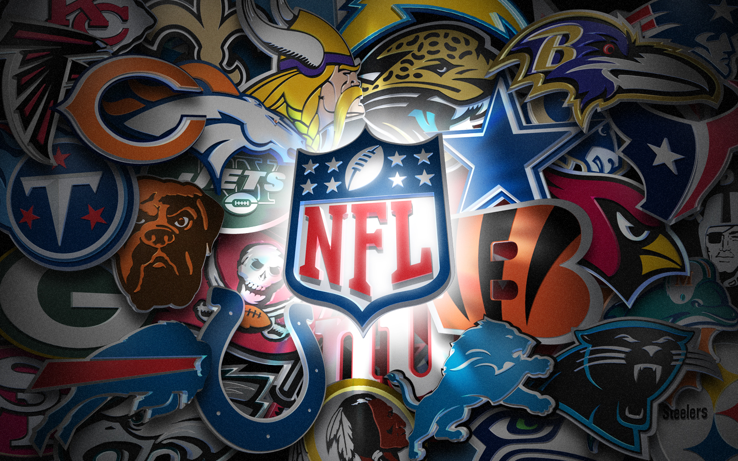 NFL 3D League Logos 1440x900