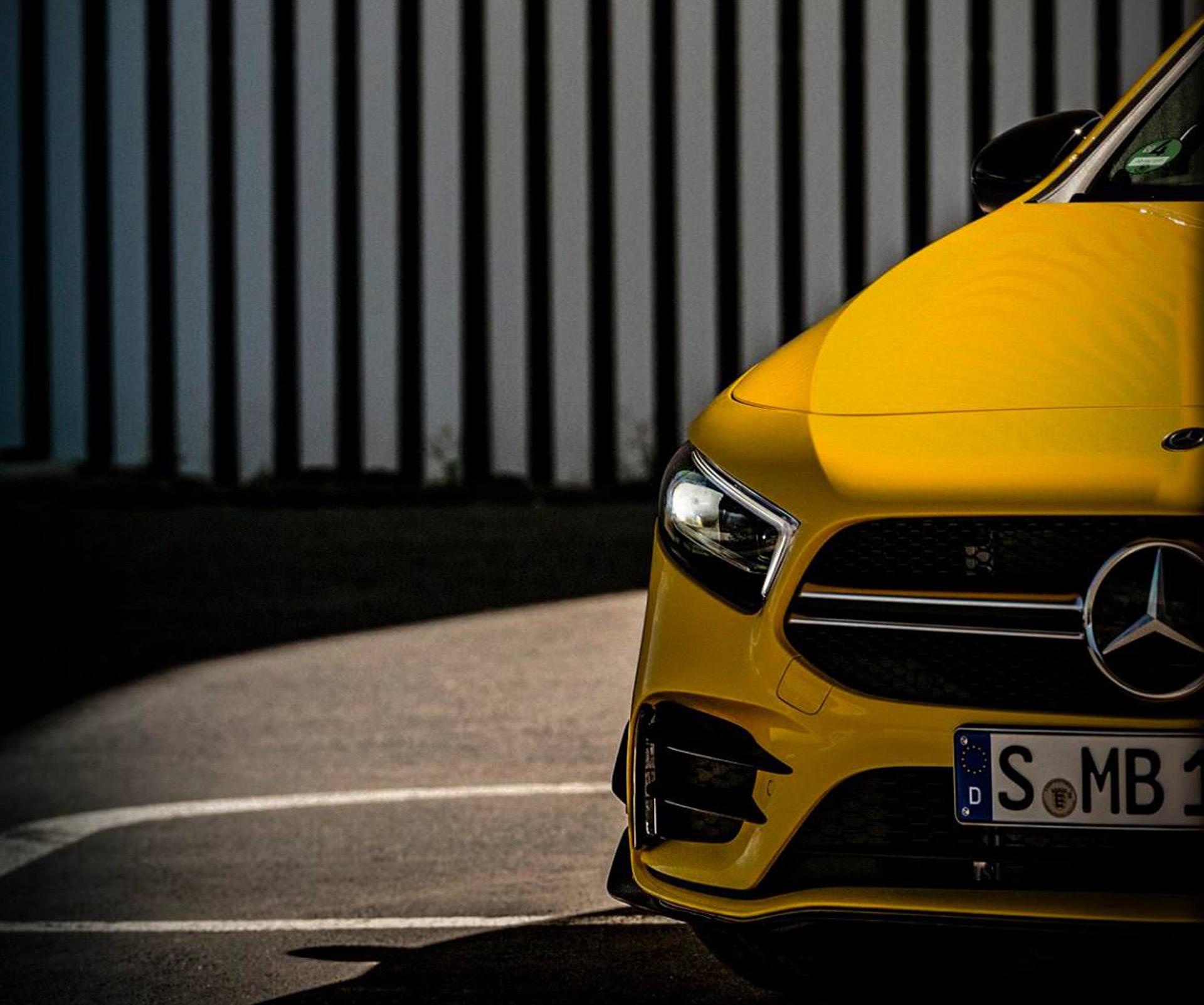 Mercedes AMG A35 hot hatch teased ahead of 2018 Paris auto show 1920x1602
