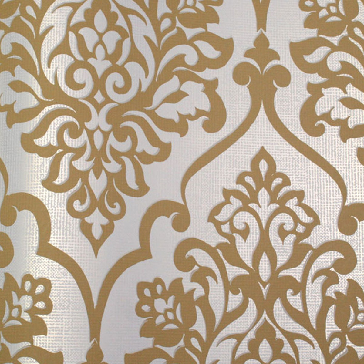 White and gold wallpaper wallpapersafari for Black white damask wallpaper mural