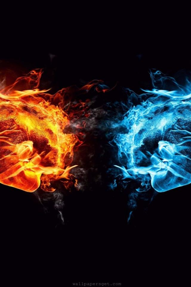 cool fire and ice wallpapers wallpapersafari