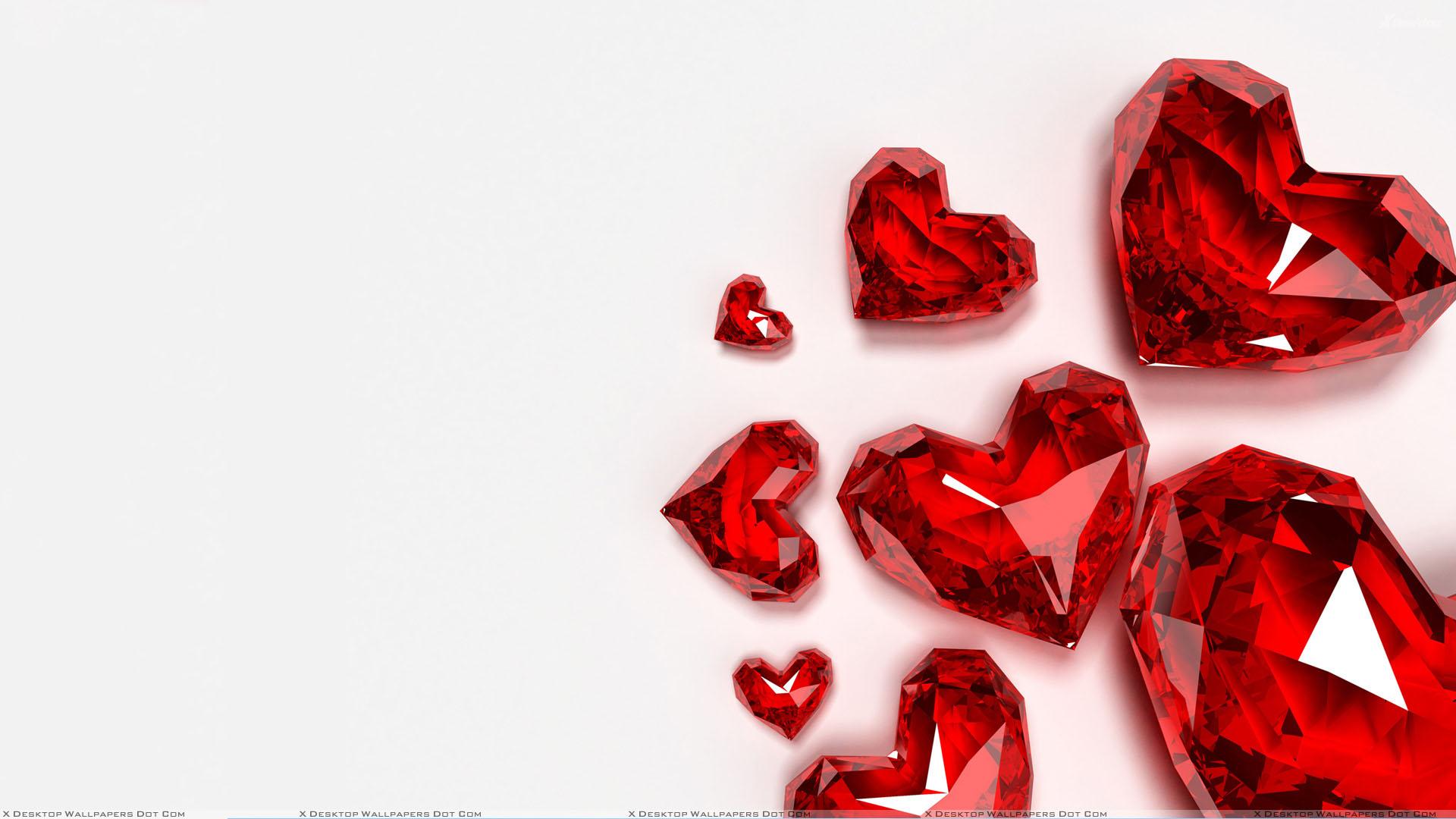 Sparkling heart wallpaper