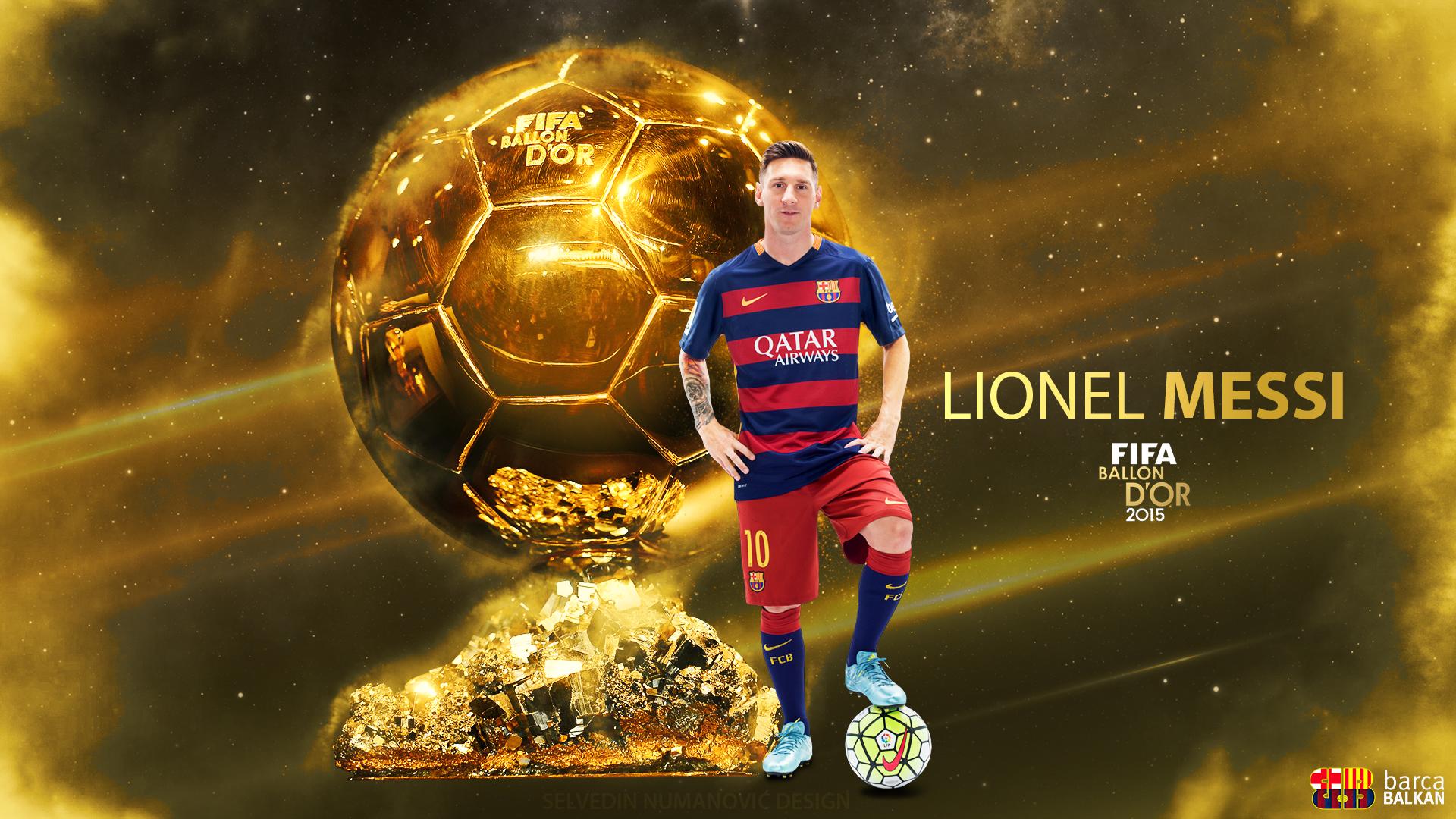 Lionel Messi FIFA Ballon dOr 2015 HD wallpaper by SelvedinFCB on 1920x1080