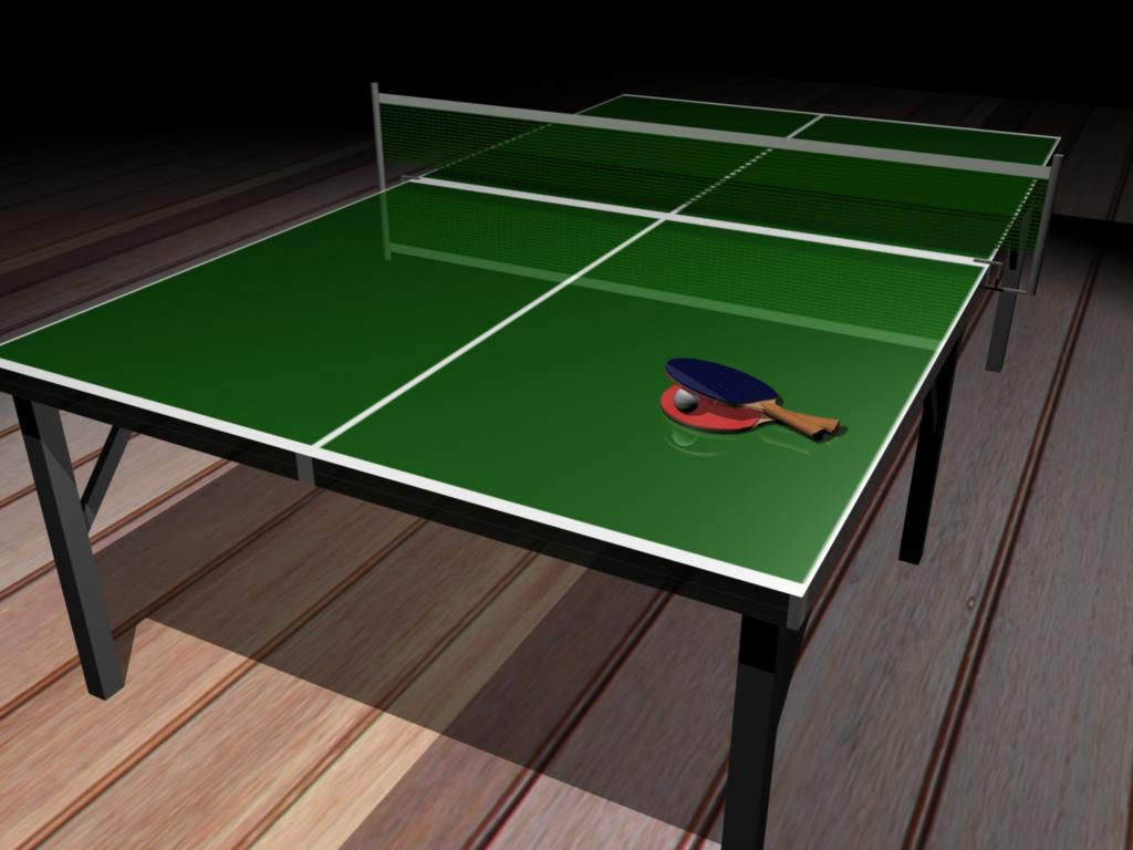 Tennis Table Background Wallpaper for PowerPoint Presentations 1024x768