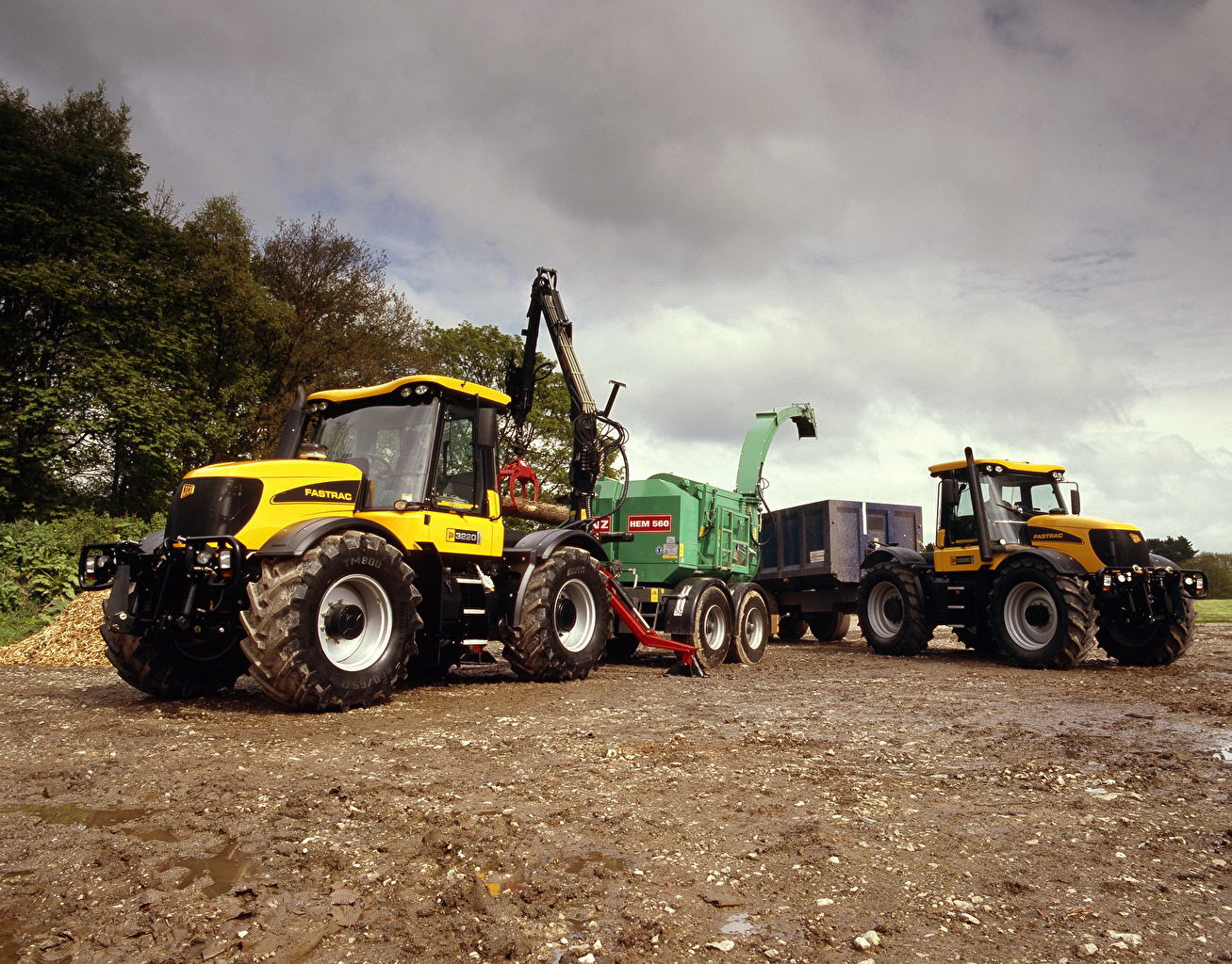 Wallpaper Agricultural machinery tractors 2002 06 JCB Fastrac 3220 1307x1024