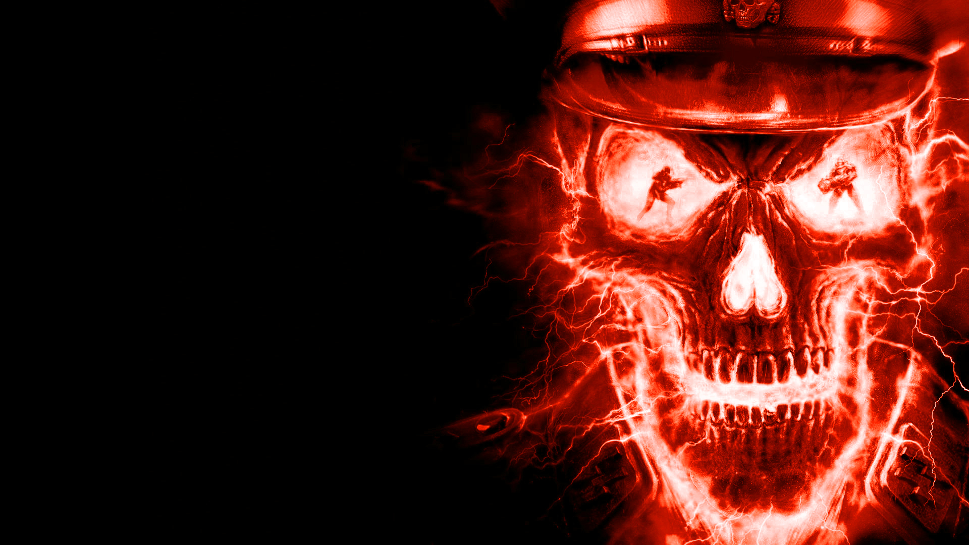 Red Skulls On Fire Photo fire skull texture 1920x1080