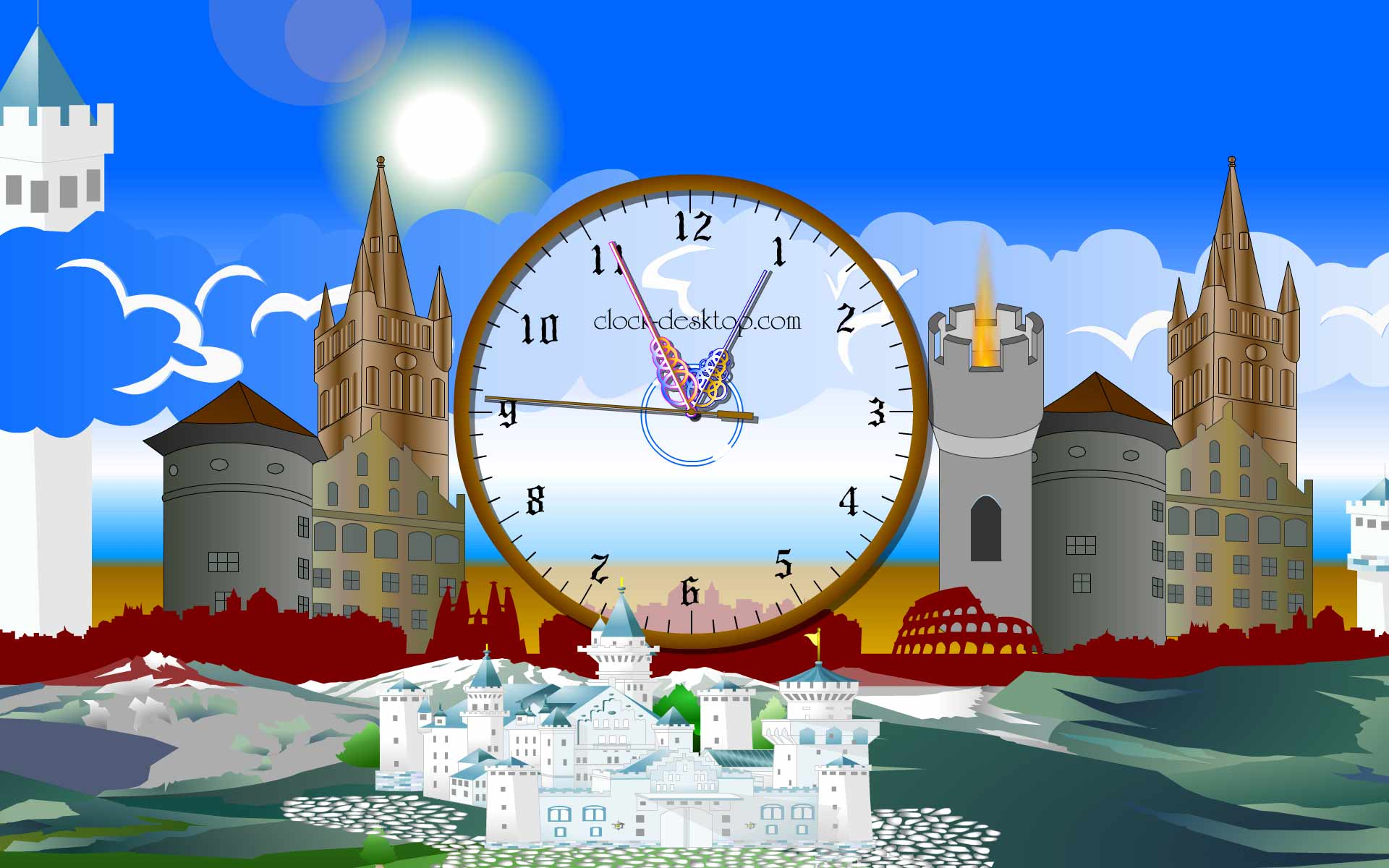 screensaver clock castle images image software 1920x1200 1920x1200