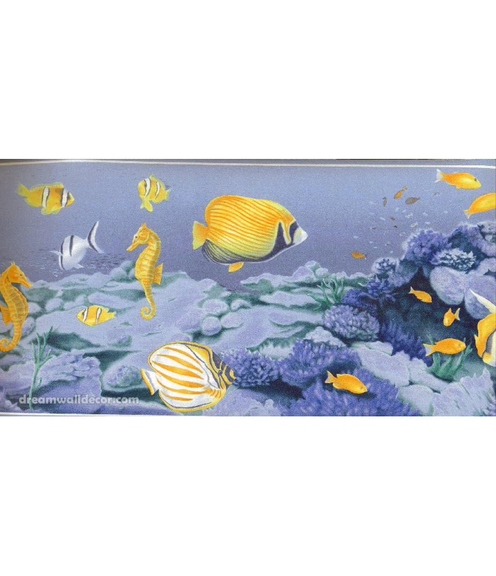 Under Sea Fish World Wallpaper Border 700x812