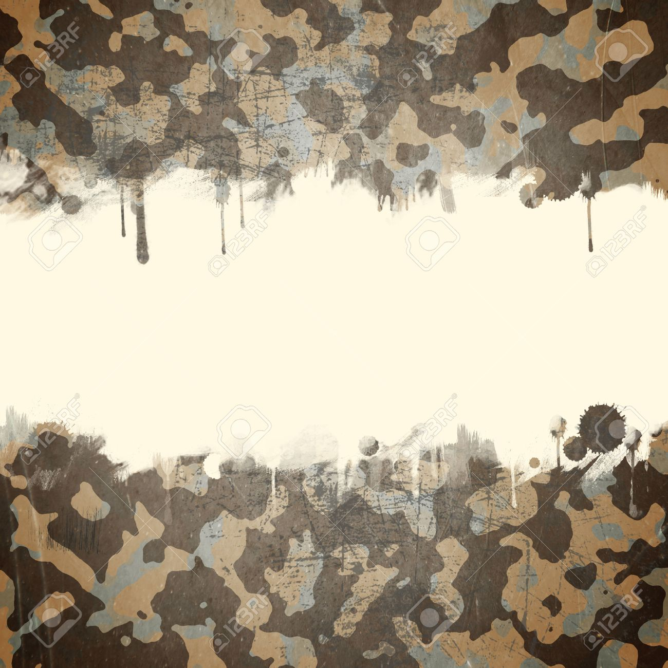 Desert Army Camouflage Background With A Space For Text Stock 1300x1300