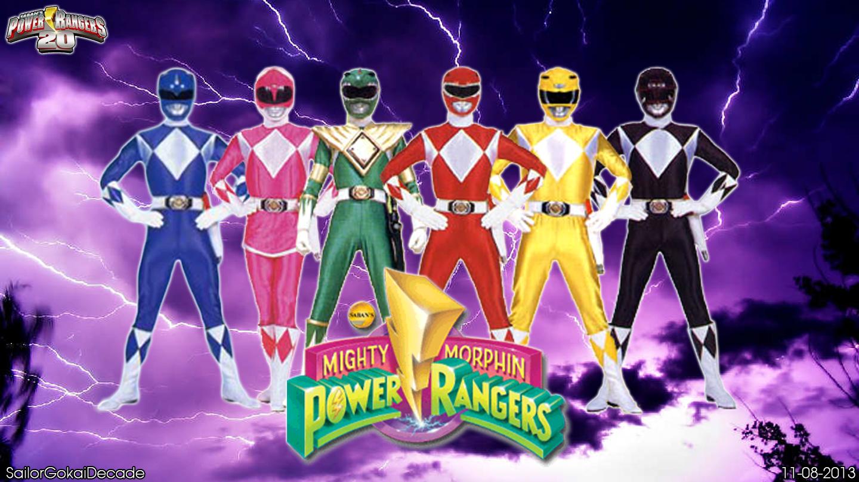 download mighty morphin power rangers wp by jm511 fan art 1440x810