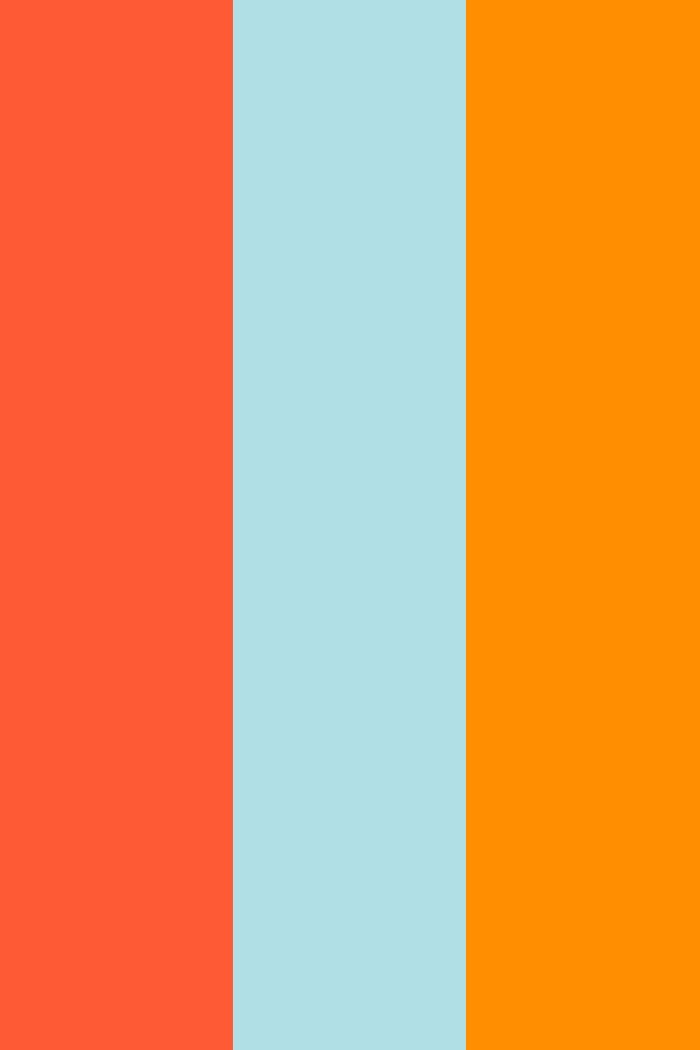 Orange Powder Blue Web and Princeton Orange Three Color Background 640x960