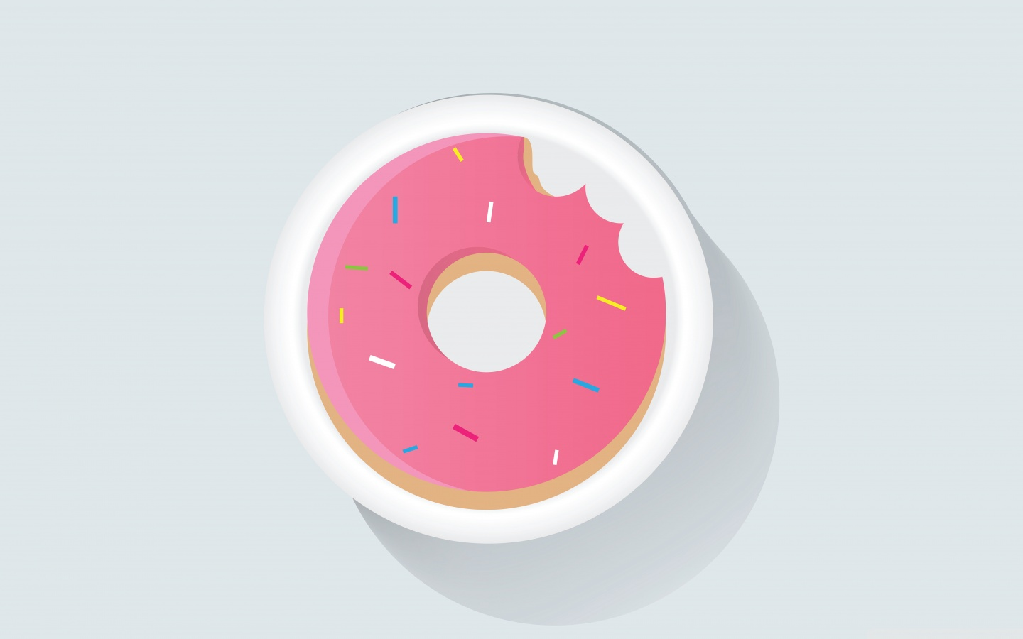 Bitten Pink Doughnut 4K HD Desktop Wallpaper for 4K Ultra HD TV 1440x900