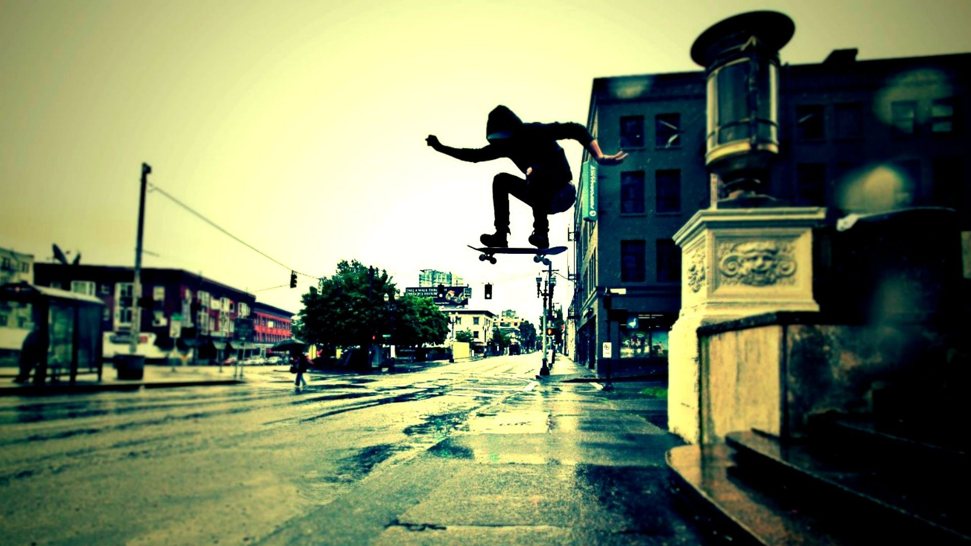 Urban Skateboard Trick   High Definition Wallpapers   HD wallpapers 1920x1080