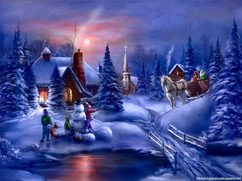 Christmas Wallpaper Widescreen 8553 Hd Wallpapers in Celebrations 1024x768