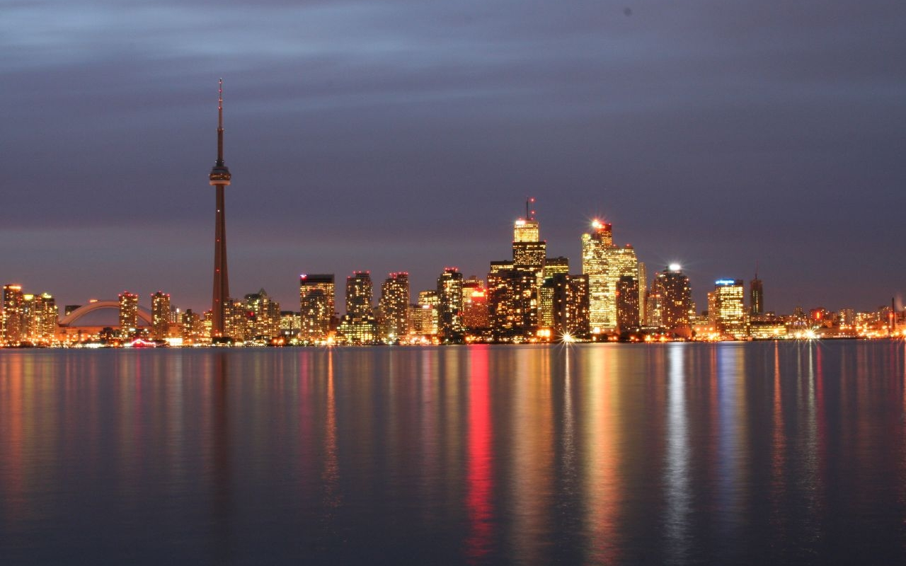 Wallpapers Toronto Wallpaper toronto skyline wallpaper 1280x800 1280x800