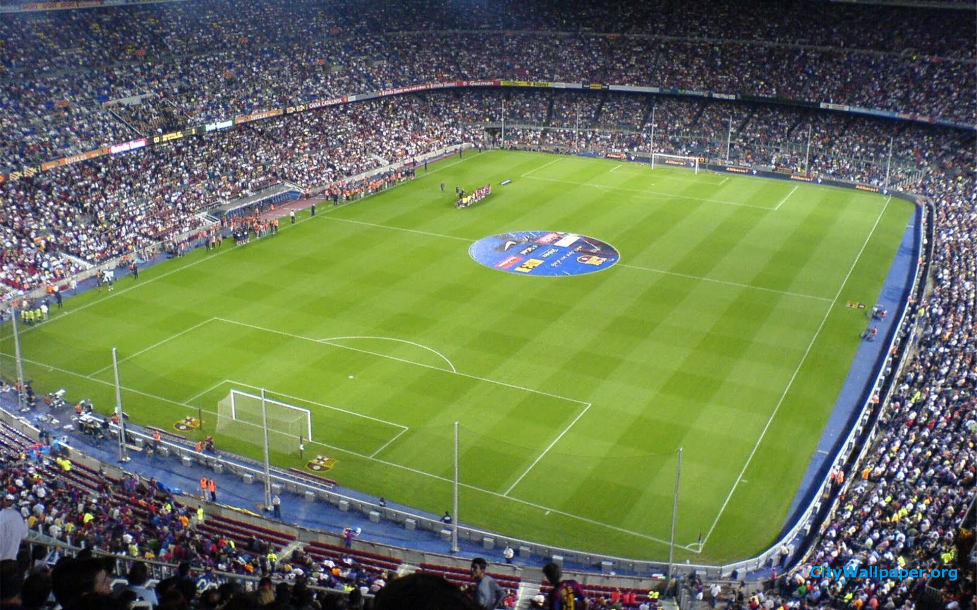 Camp Nou Stadium Barcelona HD Background Widescreen Wallpapers HD 1920x1200