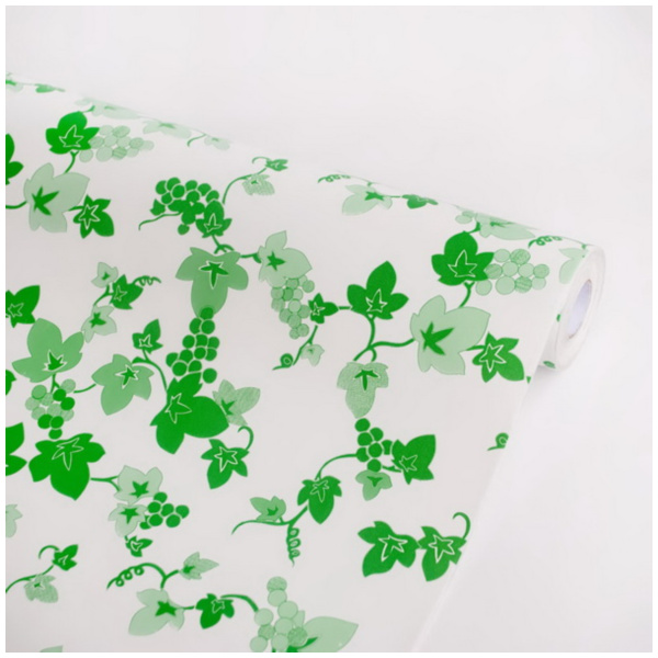 Grapevine Green Vinyl Self Adhesive Wallpaper Prepasted Wall Stickers 600x600