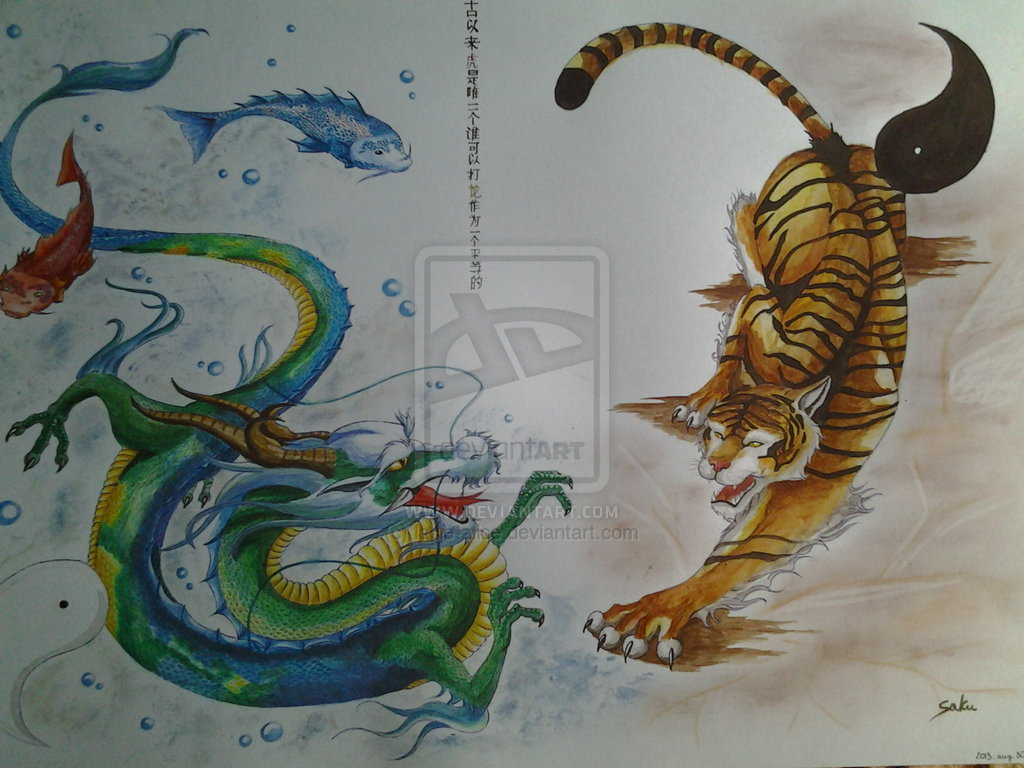 Dragon Vs Tiger Wallpaper Dragon vs tiger by lacie alice 1024x768