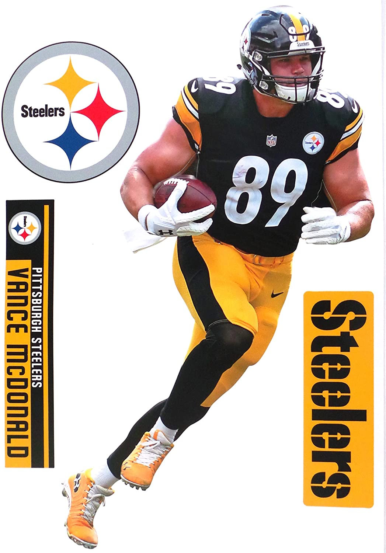 Vance McDonald FATHEAD Official NFL Vinyl Wall Graphics 17 INCH 1047x1500