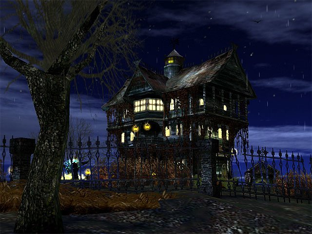 3D Haunted Halloween Screensaver Haunted House 640x480