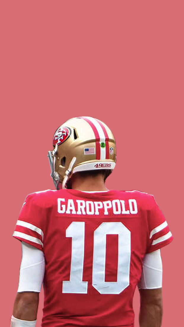 sports Jimmy Garoppolo x 49ers colors wallpapers 621x1104