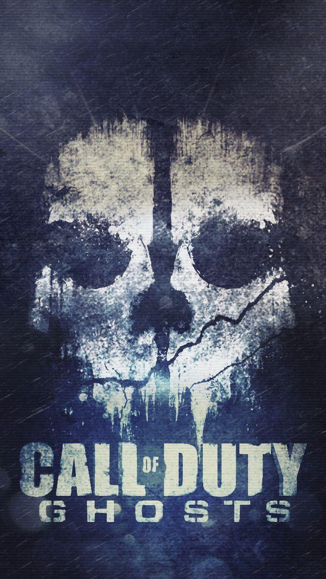Cod ghosts skull iPhone Wallpapers Call of duty Jogos Lobo desenho 640x1136