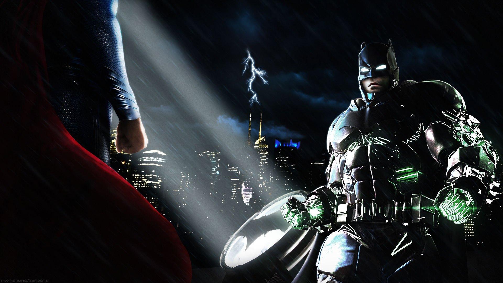 adventure action batman superman dawn justice wallpaper background 1920x1080