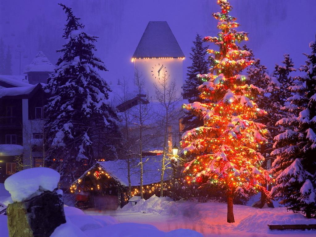 Christmas Christmas Scene 1024x768