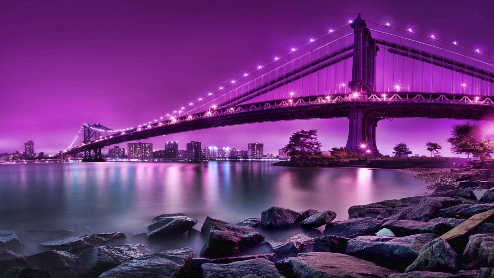 New York Bridge Wallpaper 1600x900