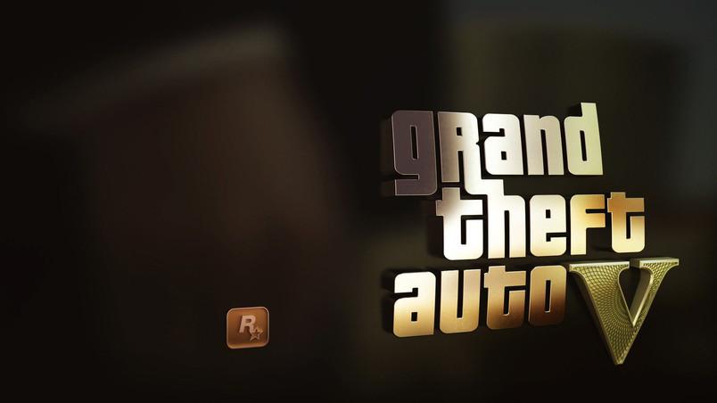 GTA 5 Gold Logo HD Wallpaper   WallpaperFX 804x452