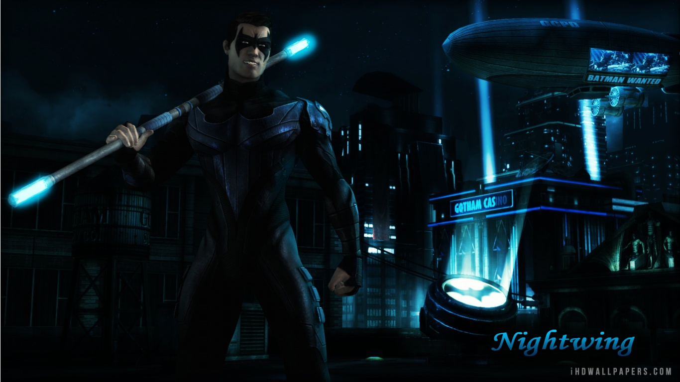 Nightwing Injustice Gods Among Us Wallpaper 1366x768