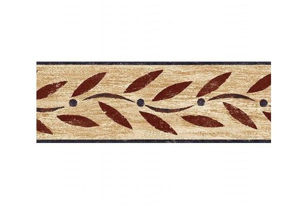 Home Burgundy Country Leaf Wallpaper Border 600x400