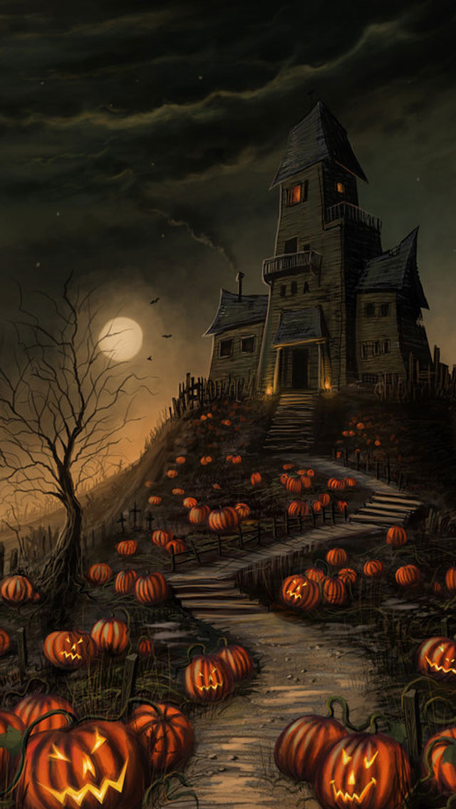 Halloween Wallpapers Scary House Pictures 640x1136