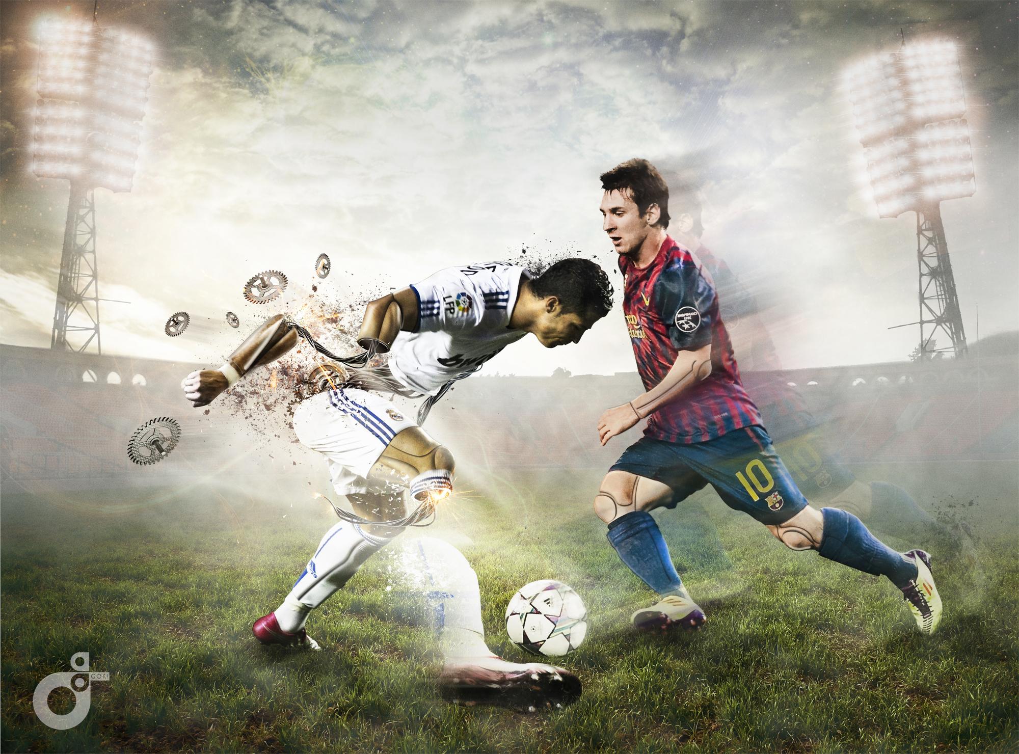 Messi Vs Ronaldo Soccer Wallpaper   Football HD Wallpapers 2000x1480