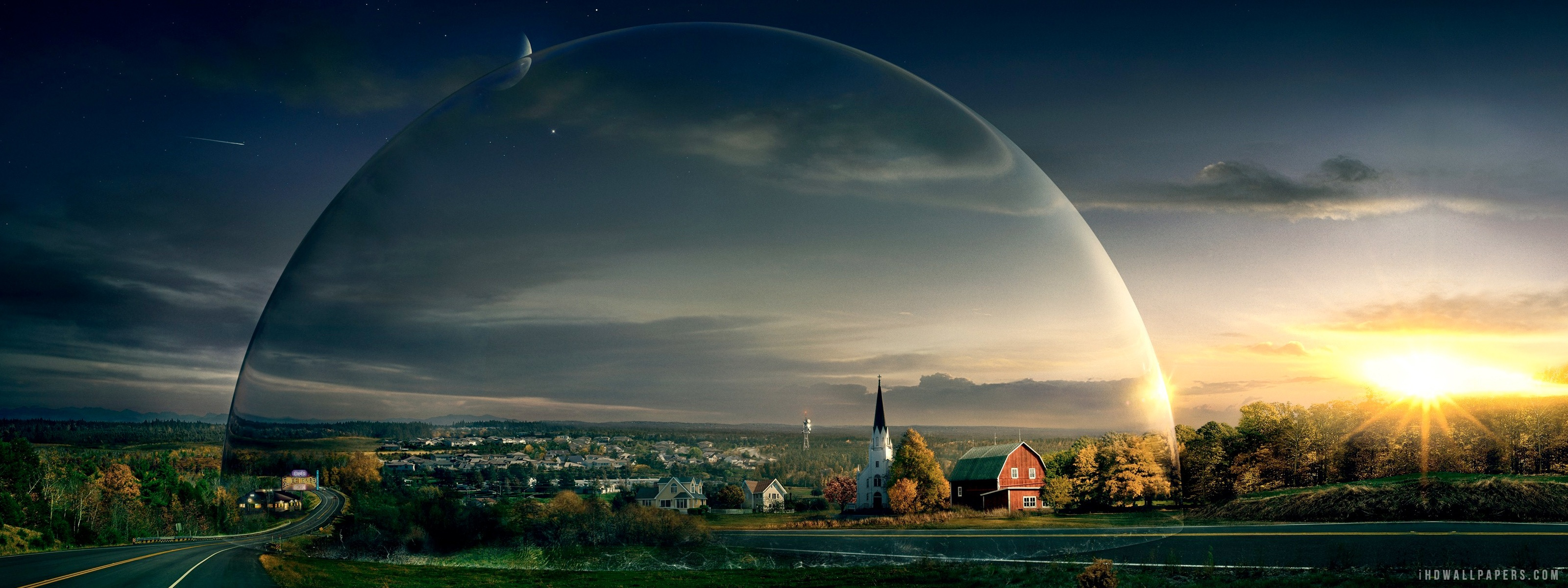 Under the Dome HD Wallpaper   iHD Wallpapers 3200x1200