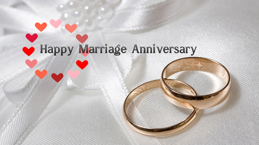 Happy Wedding Wallpapers   Marriage Anniversary Greetings Wishes 1024x576