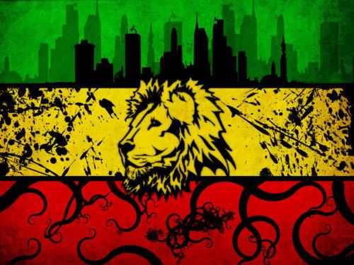 Rasta Lion Colors Rastafari Lion of Juda 500x375