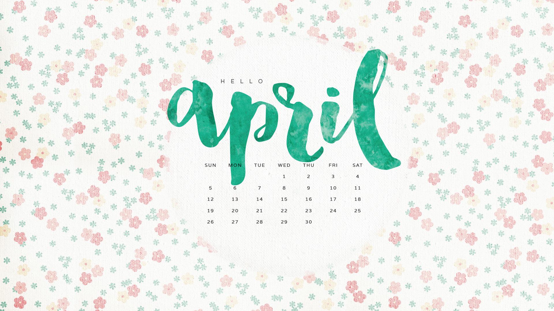 Hello April Wallpaper 1920x1080