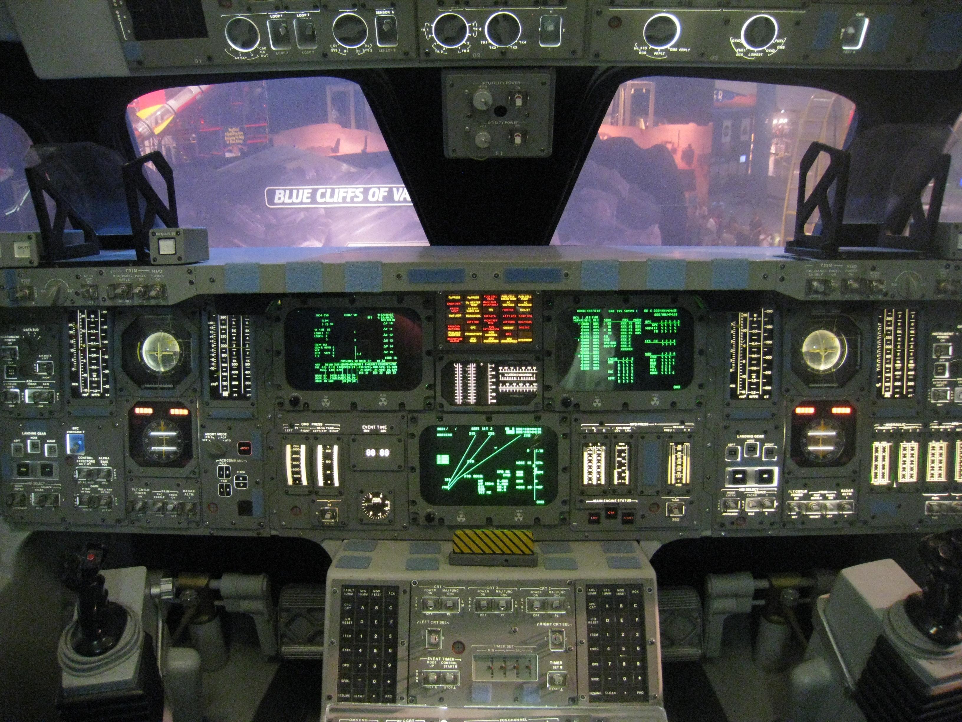 Space Shuttle Cockpit Wallpaper - WallpaperSafari