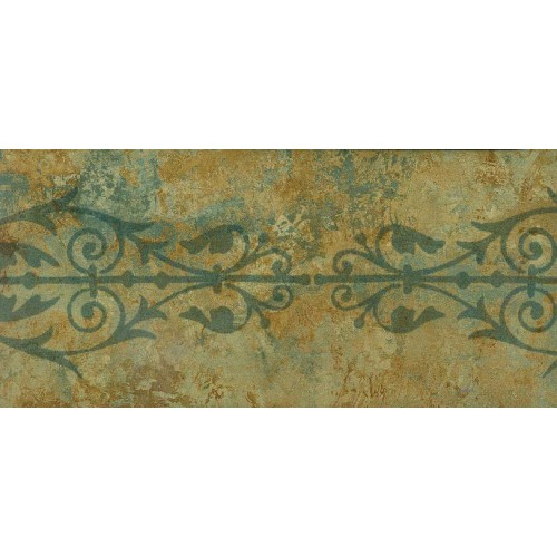 Green Brown Floral Grill Wallpaper Border 500x500
