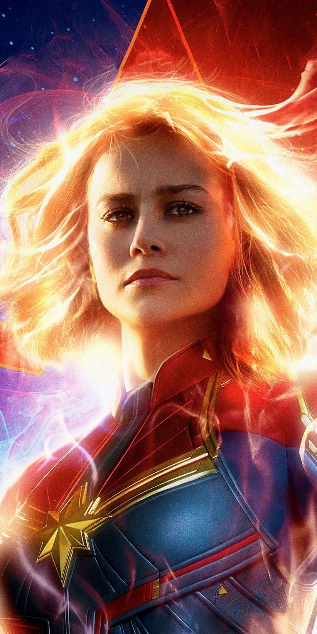 Captain Marvel Brie Larson 2019 1080x2160 wallpaper Celebrity 1080x2160