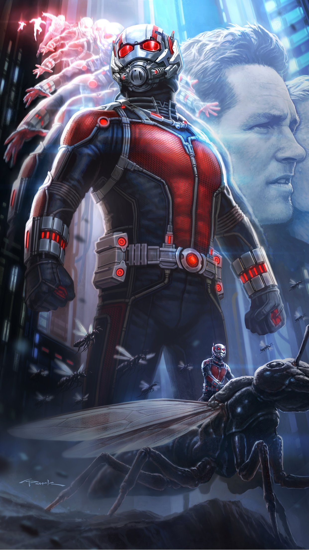 Ant Man Poster iPhone 3Wallpapers Parallax Les 3 Wallpapers iPhone du 1242x2208