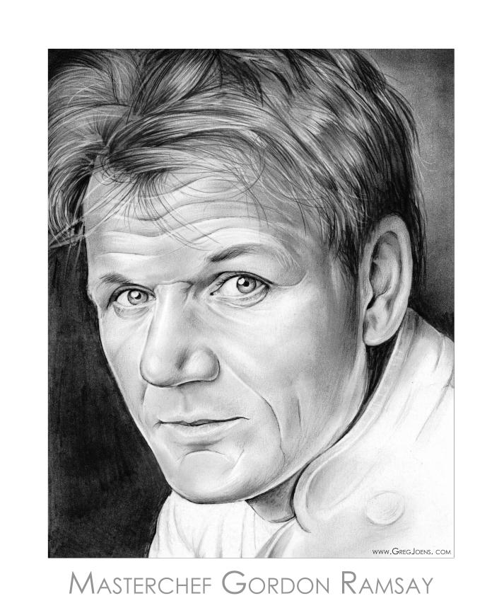 Chef Gordon Ramsay by gregchapin 713x859